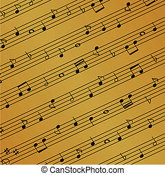 Sheet music - Musical notes on the sheet
