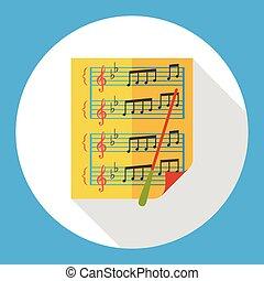 Sheet music flat icon