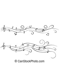 Musical notes for sheet music