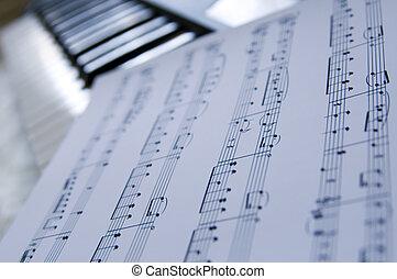 Piano music sheets