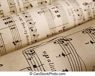 sheet music - rolls of sheet music