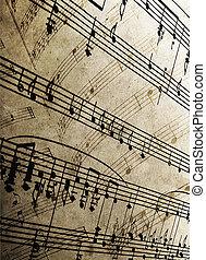 sheet music - close-up of sheet music
