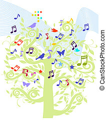sheet music tree