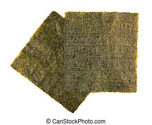 dried nori - Sheet of dried nori, dried seaweed isolated on ...