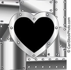 sheet of metal with heart