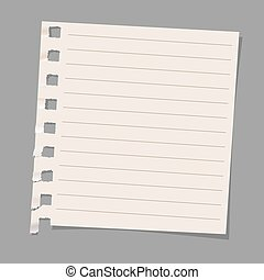 Sheet of note paper