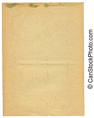 sheet of old stained paper
