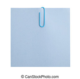 sheet of paper for notes and color clip