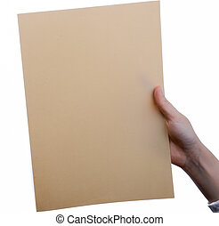 Sheet of Paper in hand
