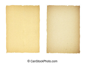 Sheet of Paper on a white background with clipping path