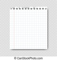 Sheet Of Paper On Transparent Background