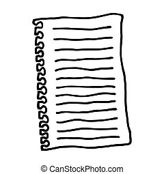 Sheet of paper. Outlined