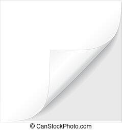 Sheet of paper. Vector illustration