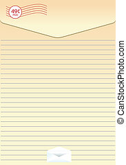 Sheet of paper with letter