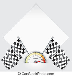 Sheet of Paper with Speedometer and