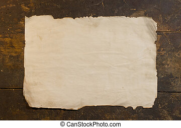 Sheet of the old rough paper