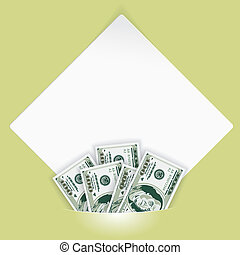 Sheet of White Paper mounted in Pocket - Sheet of white...