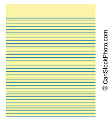 Paper - Sheet of Yellow Paper