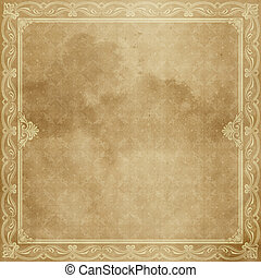 Sheet old paper with decorative border.