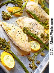 Sheet pan chicken breast dinner