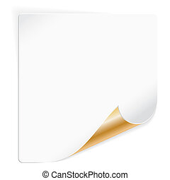 Sheet Paper with Curved Corner