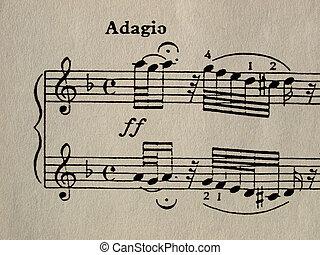 Sheet - Music sheet score
