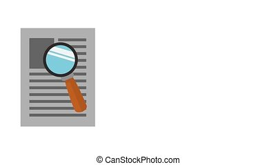Sheet with magnifying glass HD animation - Magnifying glass...