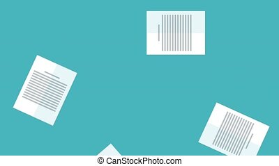 Sheets documents falling HD animation - Sheets documents...