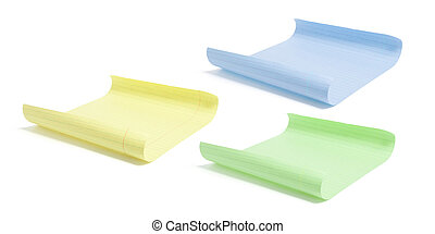 Sheets of Color Paper