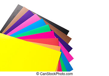 Sheets of colored paper