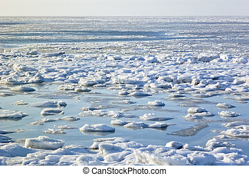 Sheets of ice