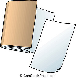 Sheets of paper