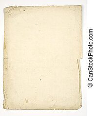 old paper - sheets of very old paper isolated on white