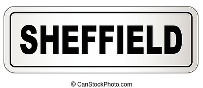 Sheffield City Nameplate - The city of Sheffield nameplate...