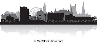 Sheffield city skyline silhouette
