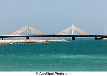 Causeway Bridge in Manama, Kingdom of Bahrain