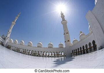 Sheikh Zayed mosque in Abu Dhabi, United Arab Emirates, Middle East