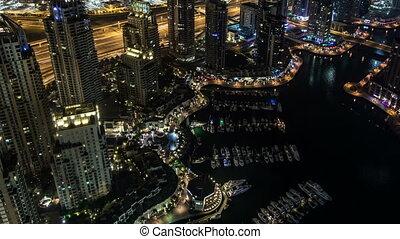 Sheikh Zayed Road with Dubai Marina
