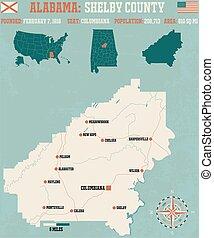 Shelby County in Alabama USA