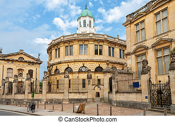 Sheldonian Theatre & Clarendon. Broad Street, Oxford, England
