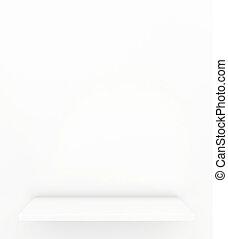shelf. 3d render on white background