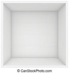 shelf box. 3d render on white background