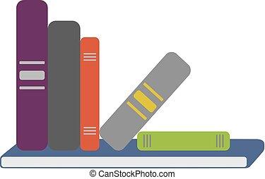 Shelf Full Of Books Vector
