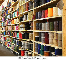 haberdashery with lots of threads and wadding for sale - ...