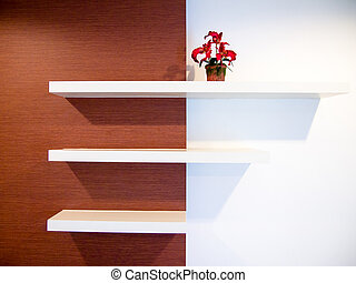 shelf on wall