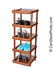 Shelf with footwear