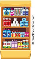 shelfs, lar, químicos