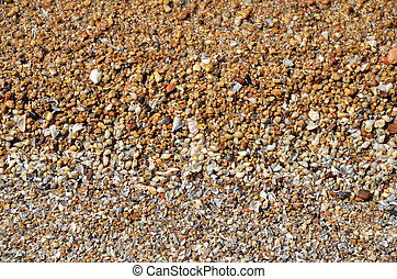 Shell and pebble stone for background texture