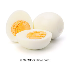 boiled egg - Shell boiled egg isolated on white background