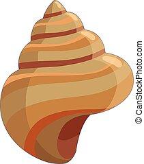 Shell icon, cartoon style